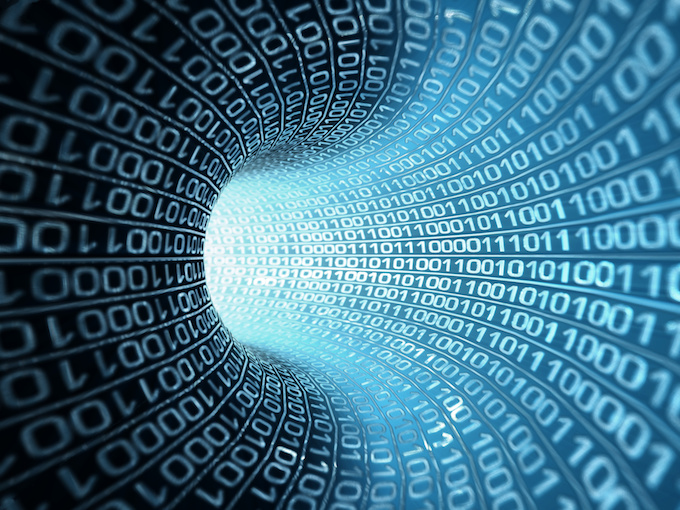 Data as numbers going through wire