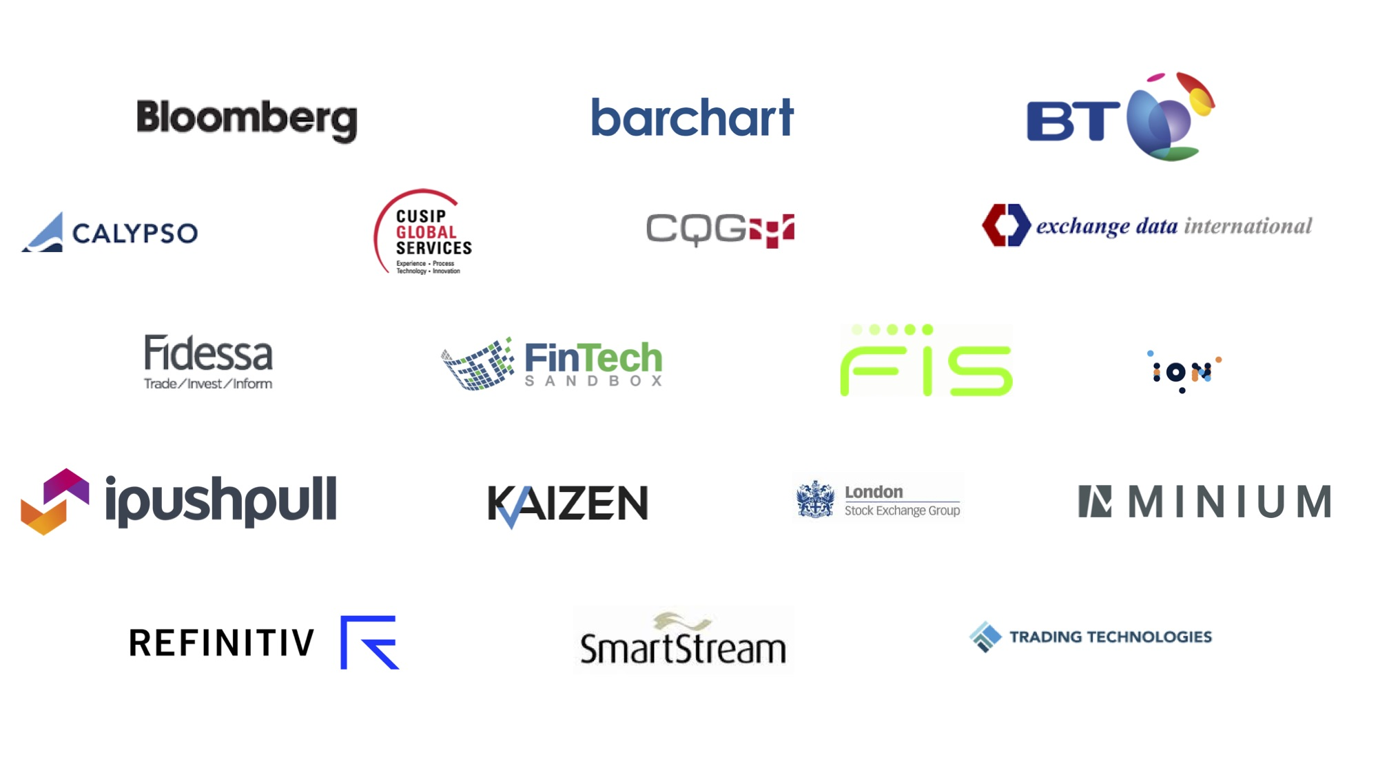Logos of all of our partners