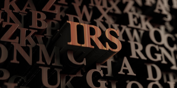 IRS wooden logo